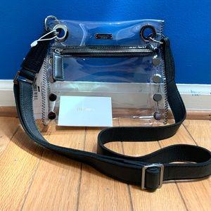 Hammitt Tony SML Clear Black Crossbody Bag NEW